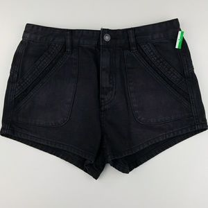 FREE PEOPLE Faded Black Shorts